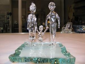 Glaskunst Gezin