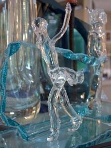 Glaskunst Vrouwfiguur