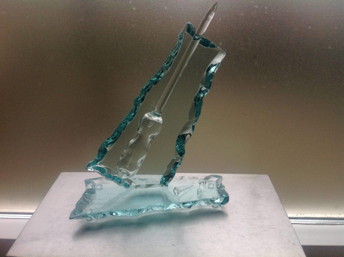 Glazen schroevedraaier