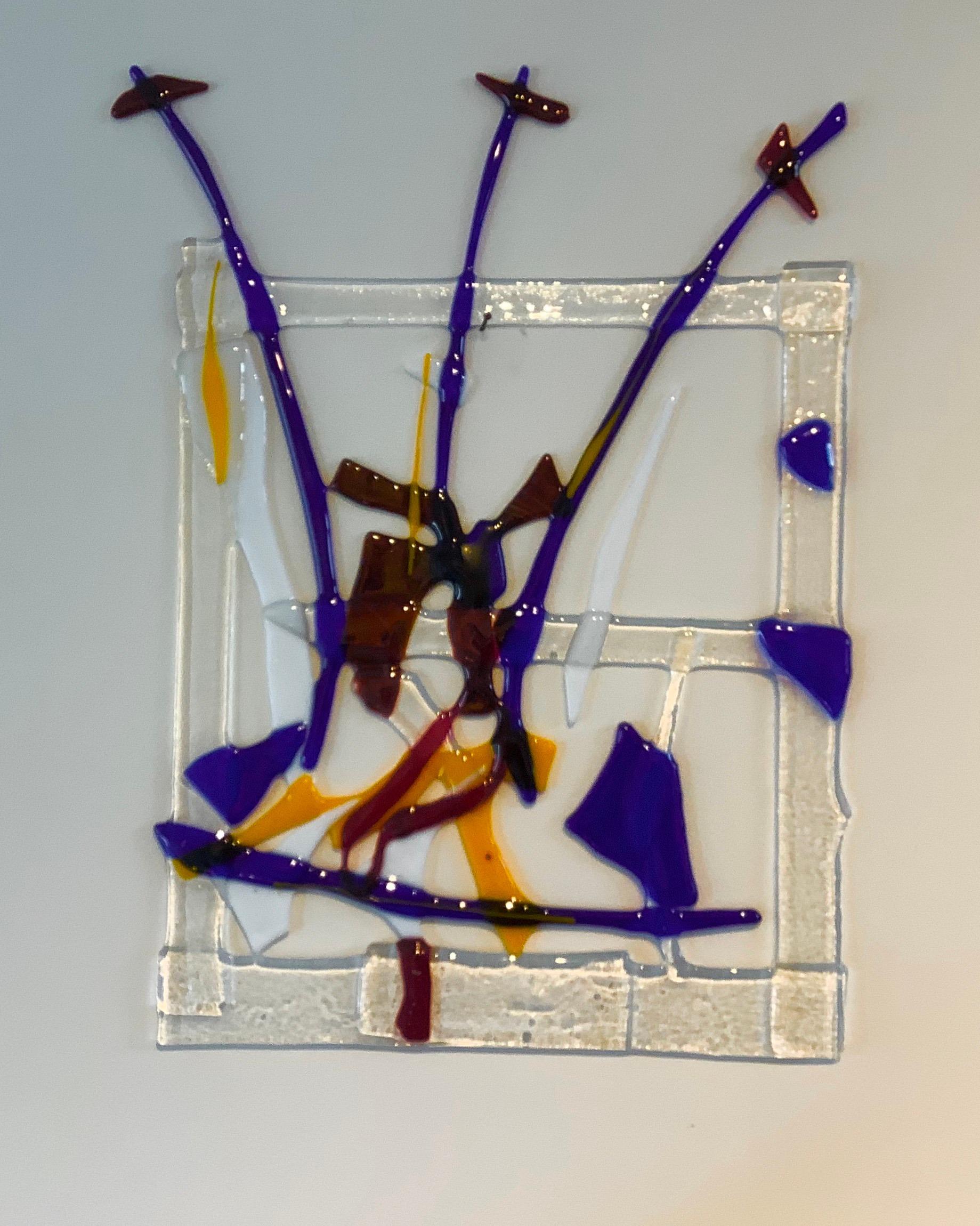 Glazen wandobject